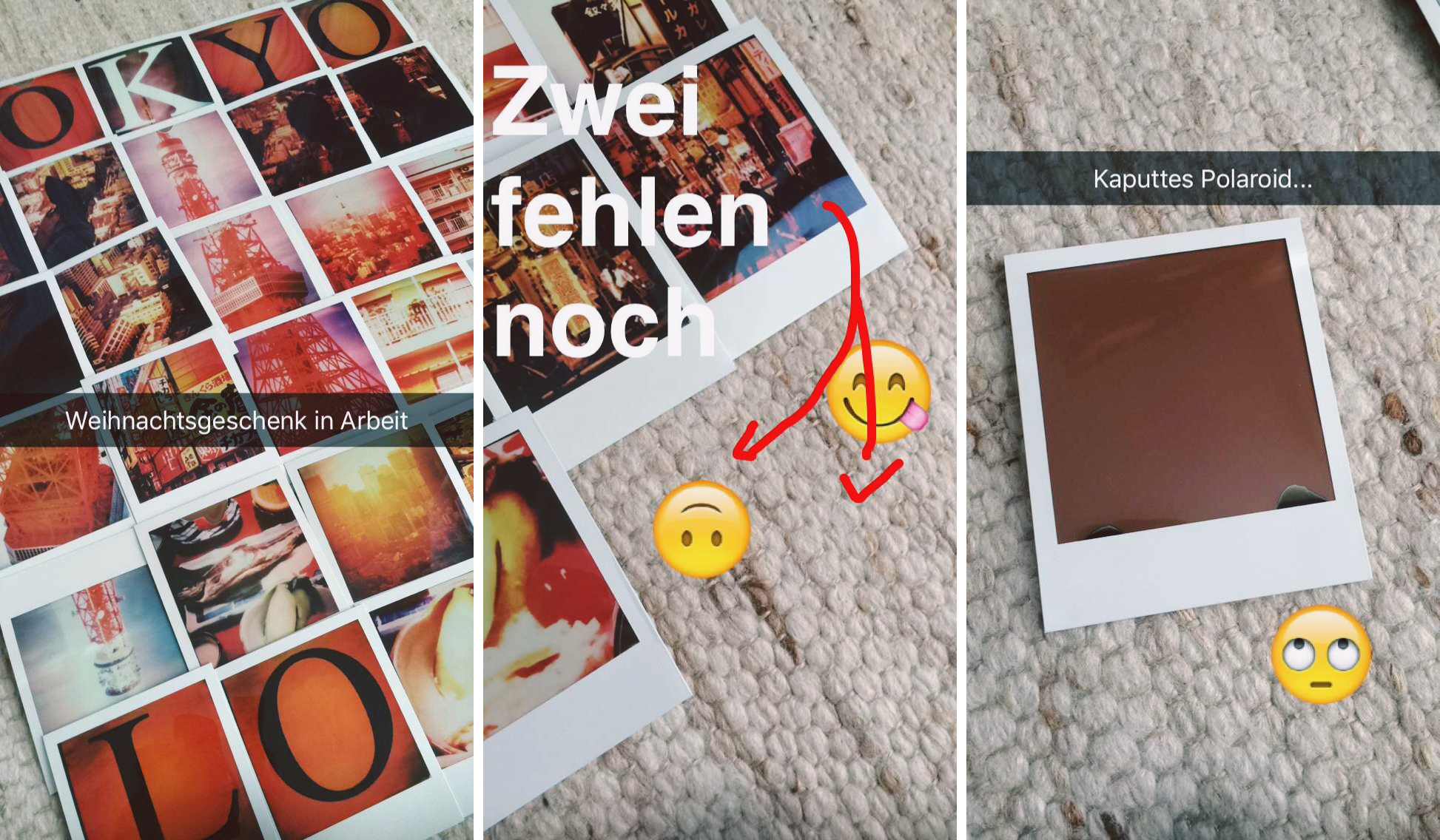 Snapchat Polaroid Collage