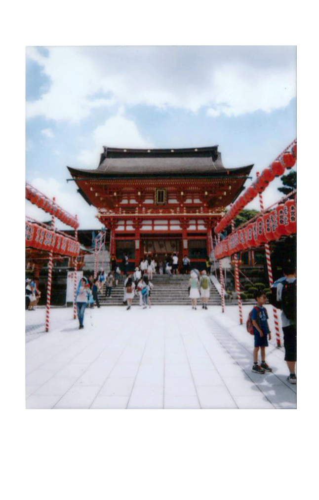 Polaroid of the entrance of fushimi inure in Kyoto, Japan