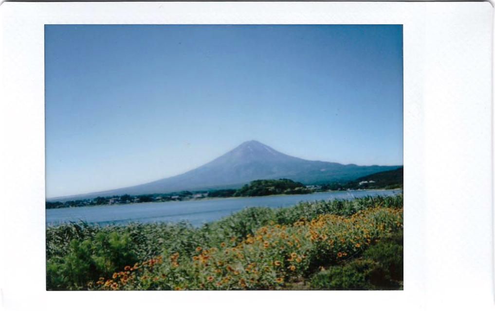 Polaroid of Mt Fuji; Japan