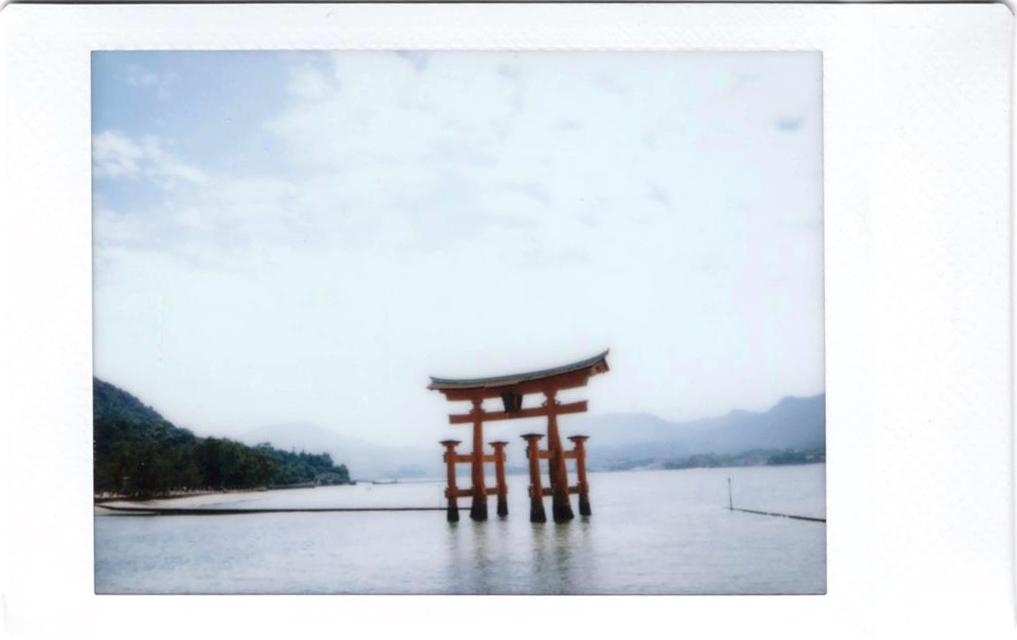 Polaroid of Torii at Miyajima; Hiroshima; Japan