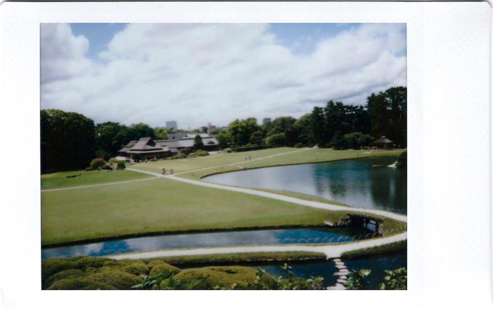 Polaroid of Korakuen garden; Okayama; Japan