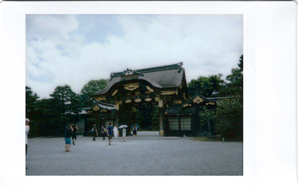 Polaroid of a temple entrance in Japan