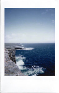 Fujifilm Instax Polaroid; Aran Islands; Inishmore; Dun Aengus; West Atlantic Way; Ireland