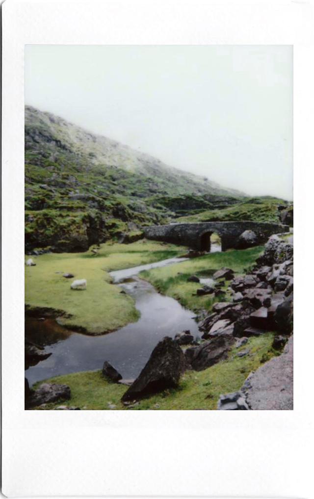 Fujifilm Instax Polaroid; Bridge in Gap of Dunloe, Ring of Kerry; Ireland