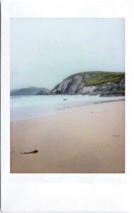 Fujifilm Instax Polaroid of beach atSlea Head Drive; Dingle Peninsula; West Atlantic Way; Ireland