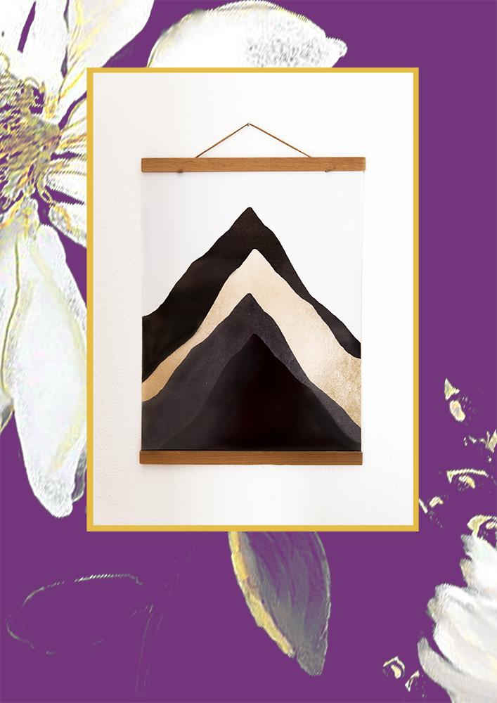 Posterlounge; Abstrakte Berge