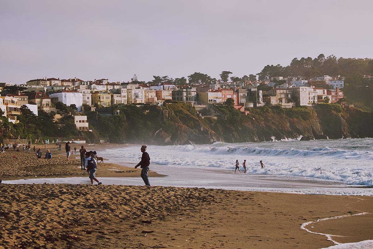 Strand San Francisco bei Sonnenuntergang; Kalifornien