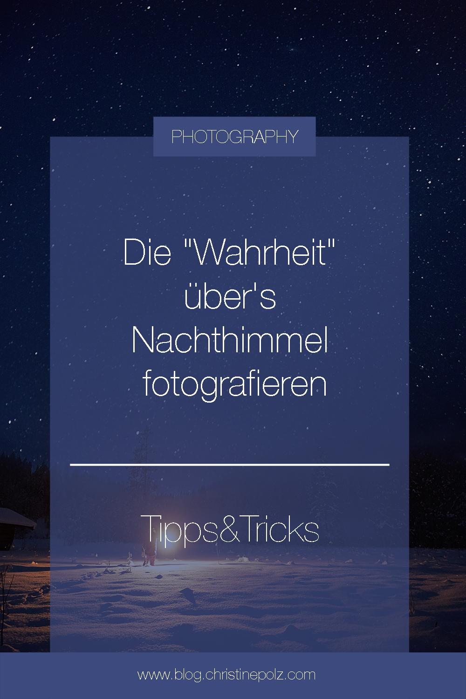 Tipps für das Fotografieren des Nachthimmels