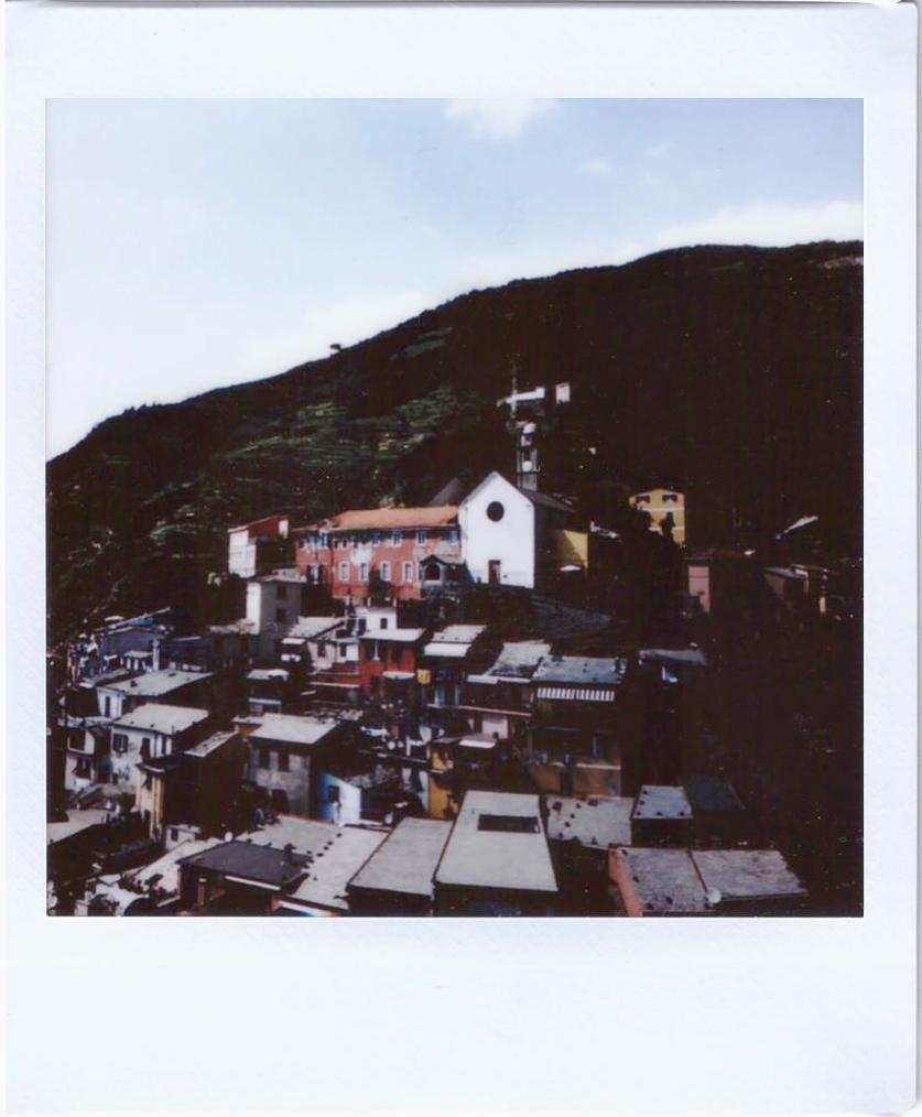 Polaroid; Fujifilm sq10; Cinque Terre, Vernazza