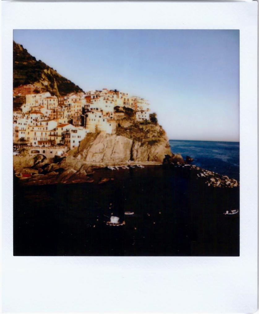 Polaroid; Fujifilm sq10; Cinque Terre, Manarola