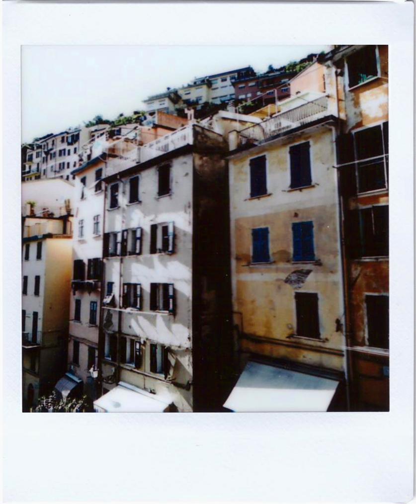 Polaroid; Fujifilm sq10; Cinque Terre, Riomaggiore