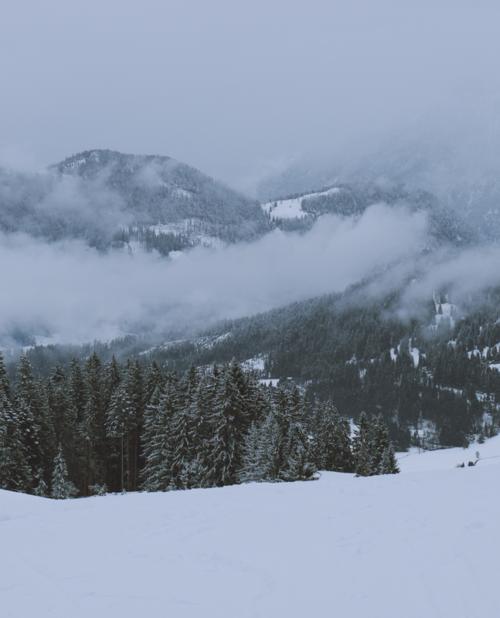 Pillerseetal Kitzbueheler Alpen Fieberbrunn Winter